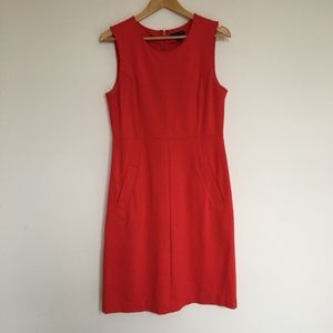 Lands End Sleeveless Stretch Bright Coral Dress